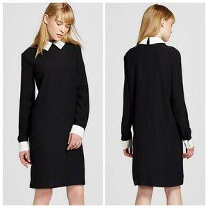 Victoria Beckham classic black shift dress